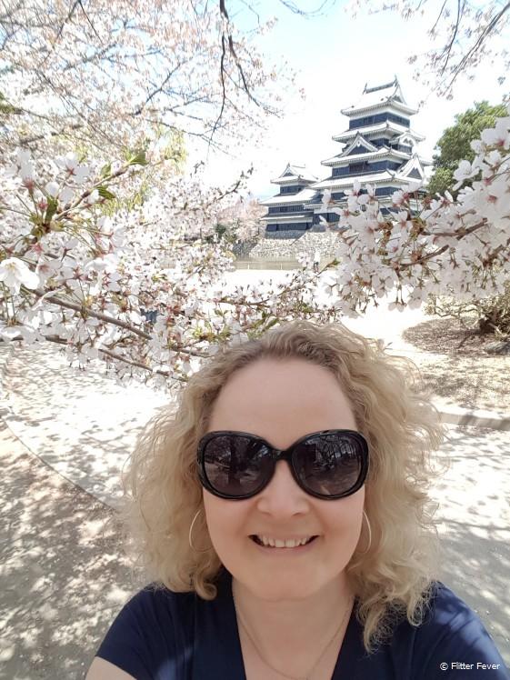 Matsumoto Castle and blossom