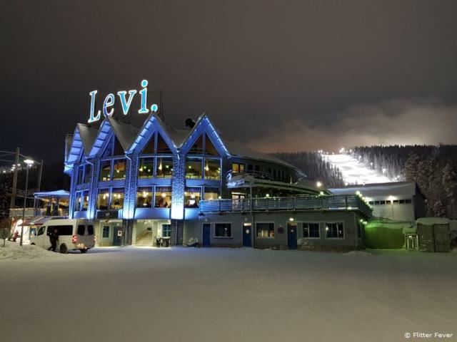Ski slope at G2 Ice Karting in Levi