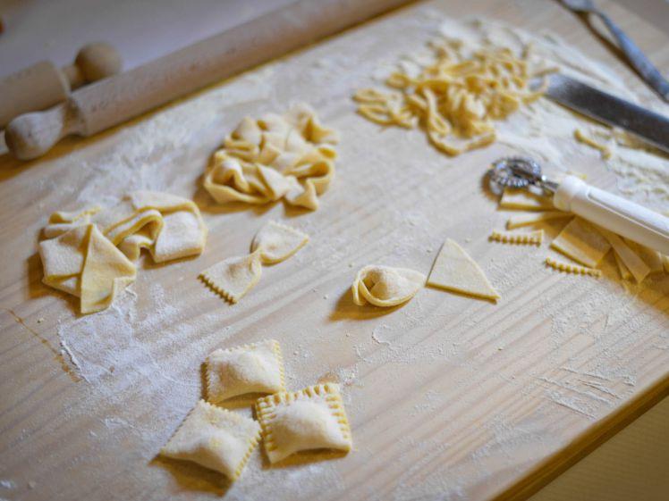 Fresh pasta at Italian cooking class with Fattorio Poggio Alloro
