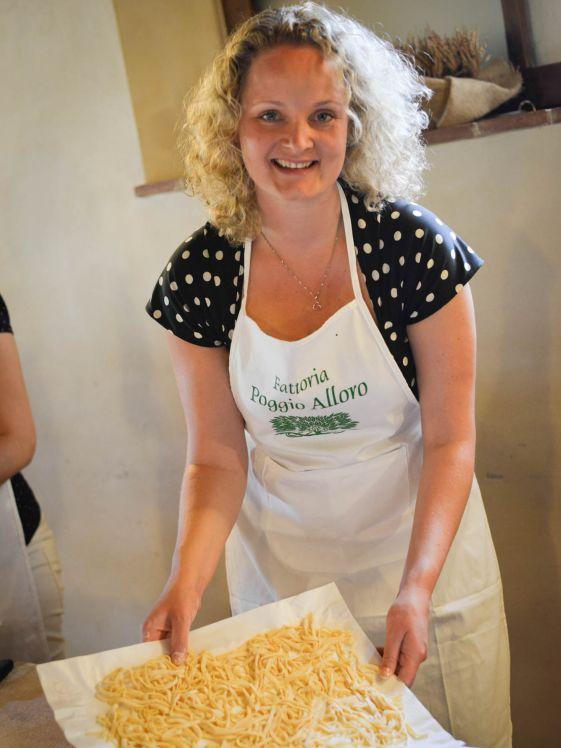 Wow I learned how to make fresh pasta at Fattoria Poggio Alloro