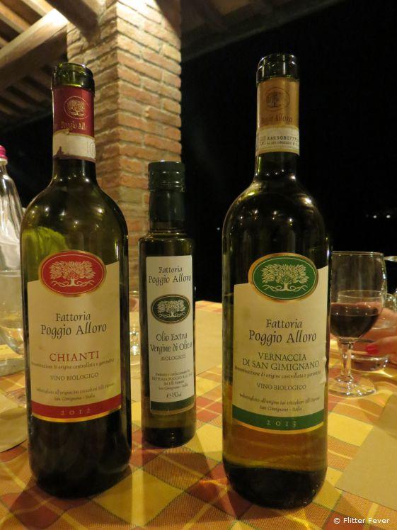 Empty wine bottles mean fantastic nights at Fattoria Poggio Alloro
