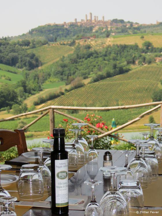 Lunch view at Fattoria Poggio Alloro