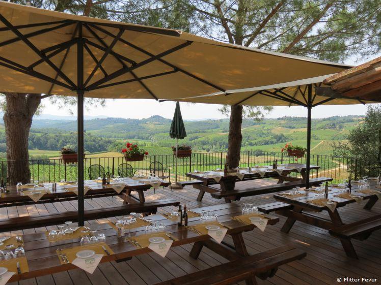 Lunch with a view at Fattorio Poggio Alloro