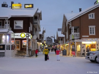 Ihku Night Club in Levi at the main shopping street - expect long rows at night!