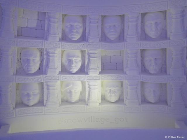 Heads in the wall @ SnowVillage, Finnish Lapland
