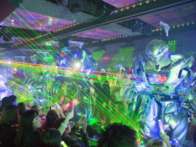 Robot Restaurant Tokyo laser