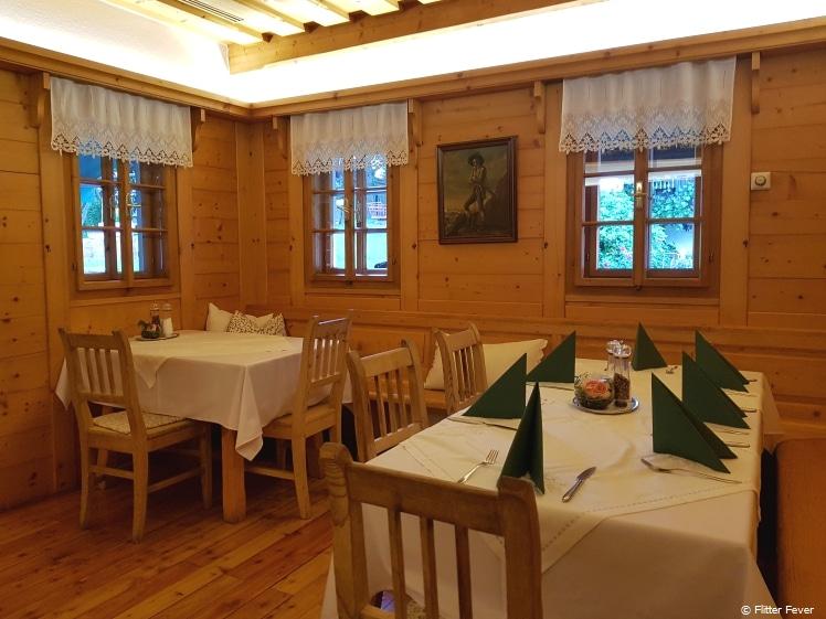 Traditiona Austrian interior at Jochum Gasthaus in Greisdorf