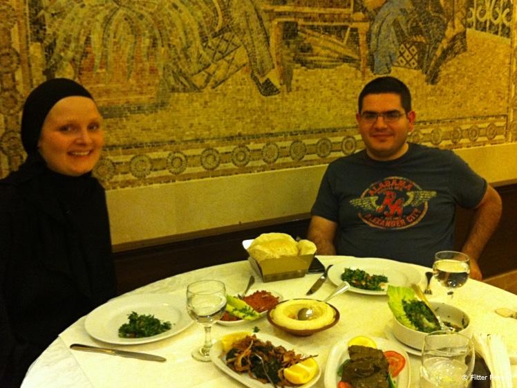 Out for dinner in the family section of Karam Restaurant Riyadh