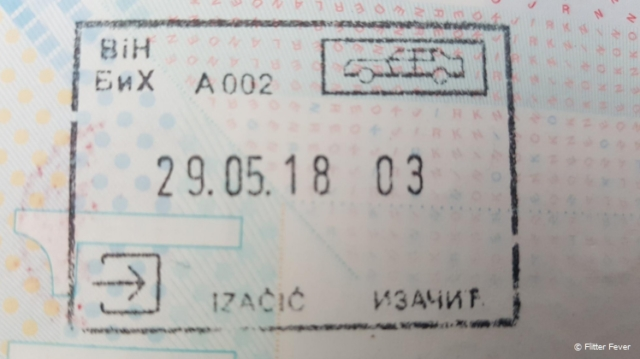 Passport stamp Bosnia