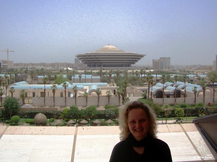 Rare photo of me without headscarf in Saudi Arabia