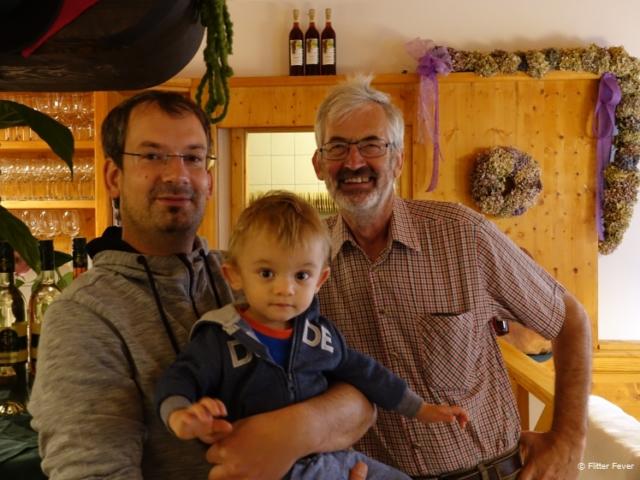 Three generations: Robert, Philip and Hans Seiner