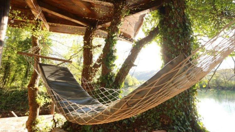 Hammock at Treehouse Bihac in Racic, Bosnia
