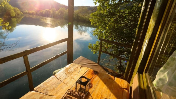 Fantastic view from Treehouse Bihac in Racic, Bosnia-Herzegovina