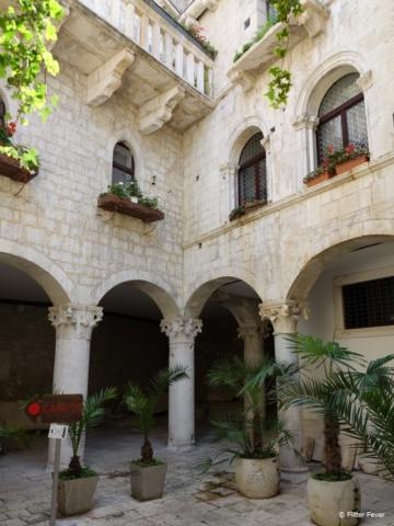 Charming courtyard at Kairos in Trogir old town