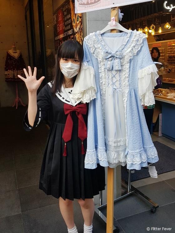 Cute Japanese fashion girl in Harajuku, Tokyo