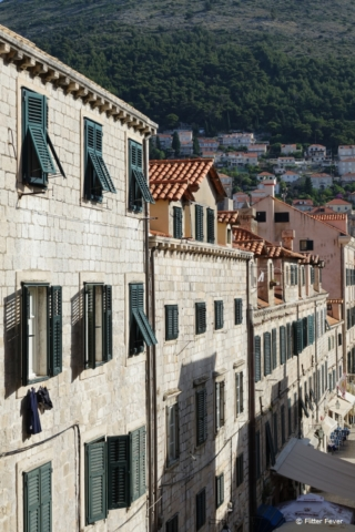 Dubrovnik old town shutters