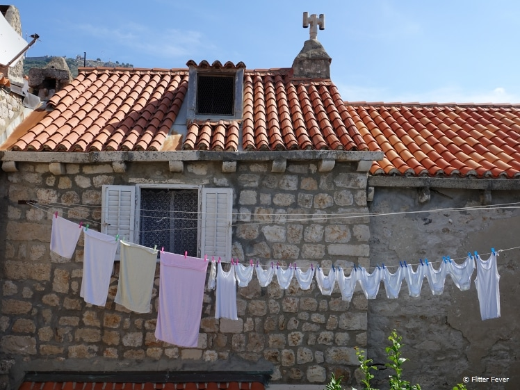 Dubrovniks are not afraid to hang their laundry outside