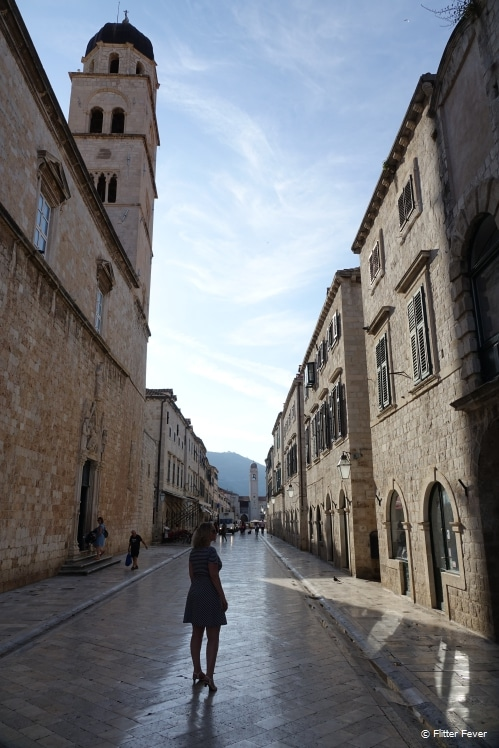 Dubrovnik's main street Stradun in the early morning