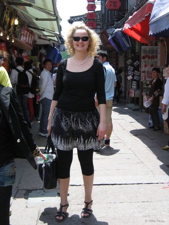 Enjoying walking down the market of Zhujiajiao