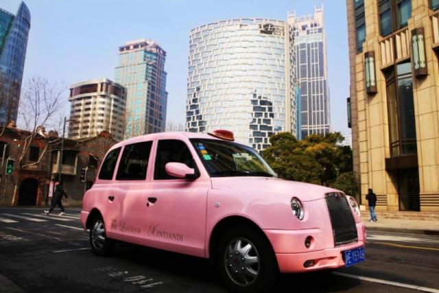 The pink Langham cab!