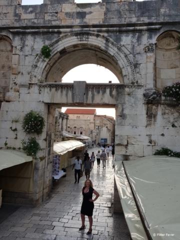 Split old town city gate