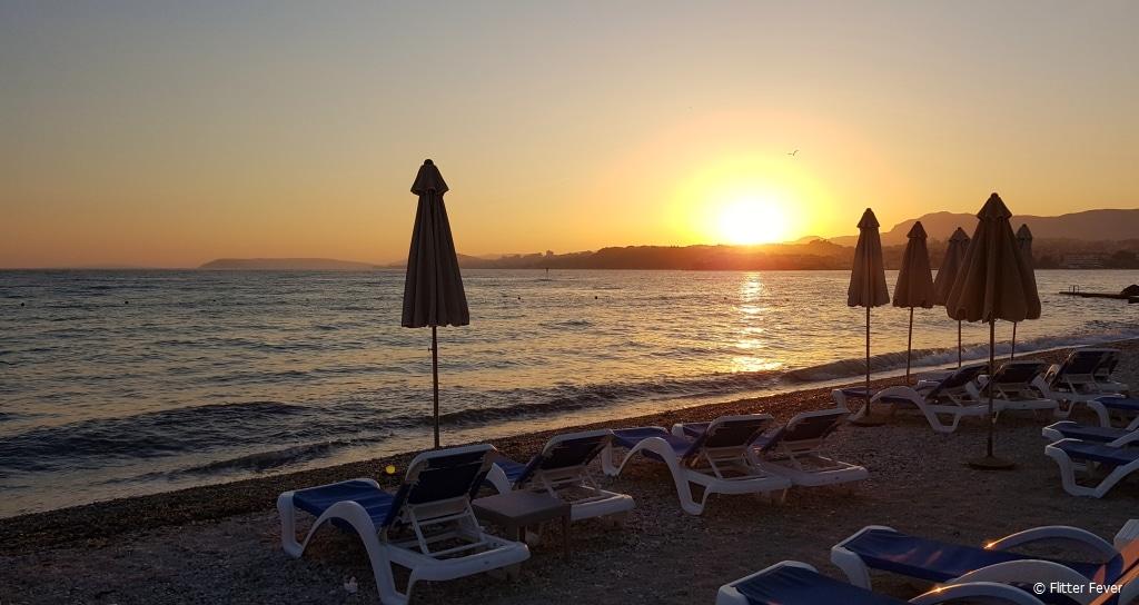 Strozanac beach at sunset Le Meridien Lav Split