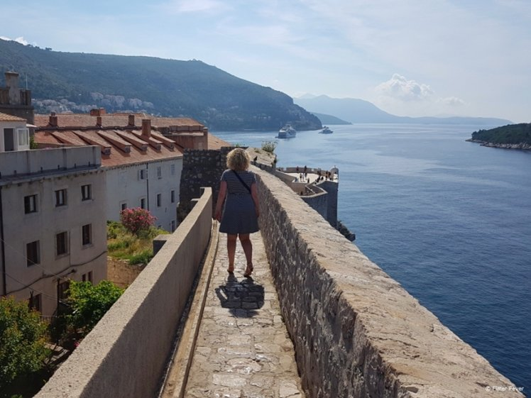 Walking down the Dubrovnik wall