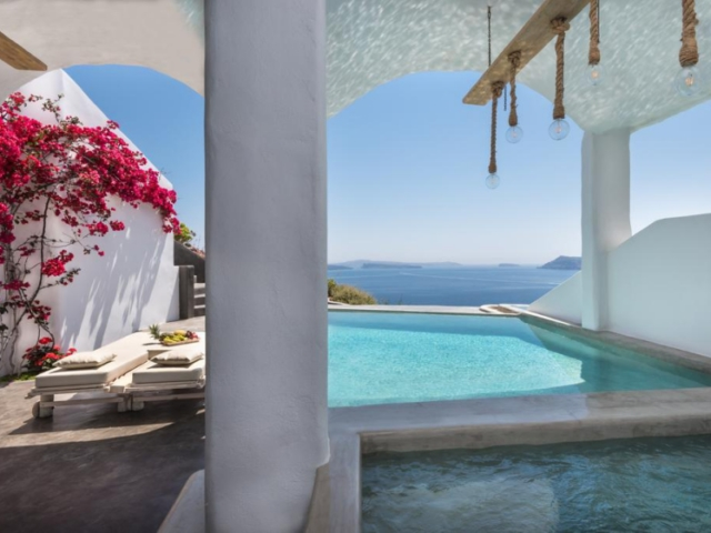 Beautiful pool & terrace @ Andronis Boutique Hotel, Santorini