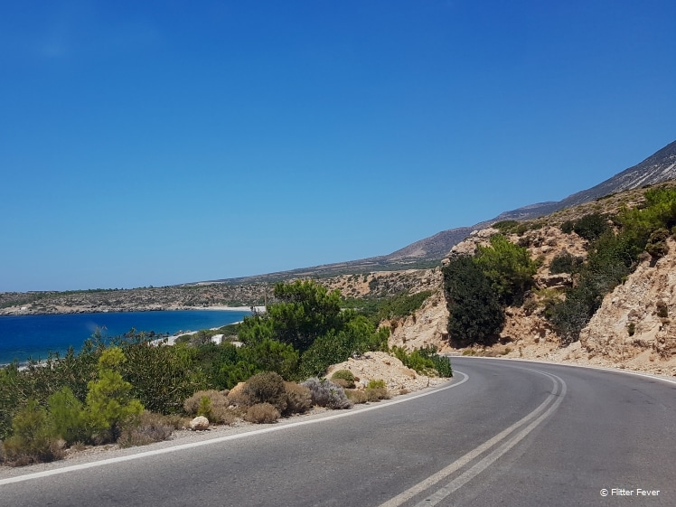 Driving around the curvy roads on Crete requires your attention