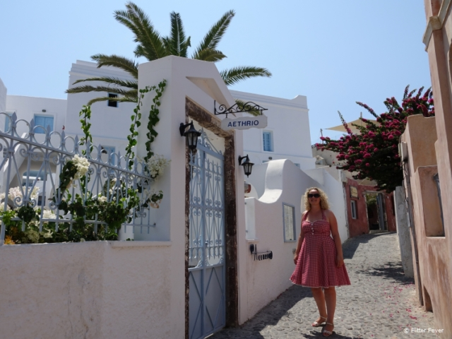Exploring the back streets of Oia