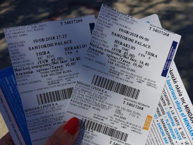 Finally got my ferry tickets!
