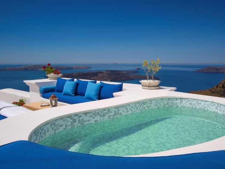 Now I wouldn't mind staying at the Iconic Santorini, a Boutique Cave Hotel, you?