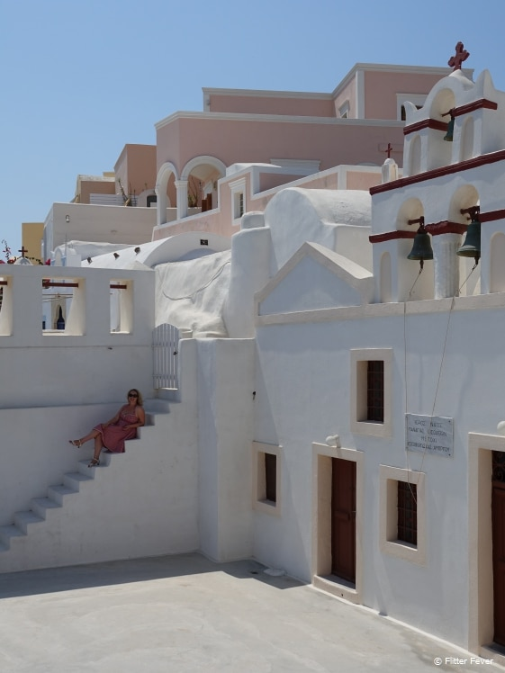 In the center of Oia Santorini