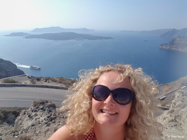 Right above Santorini port there is this great view