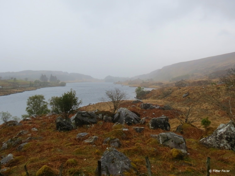 Ring of Kerry view on a rainy day