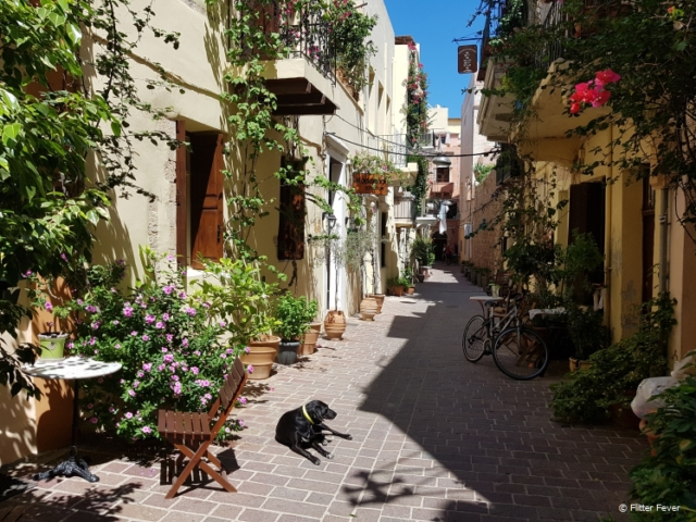 The cute back streets of Chania