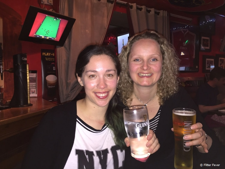 Toast at Thomond Bar with my friend Daniela who lives in Cork