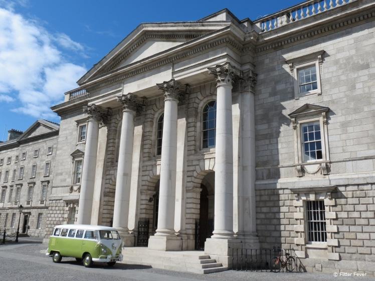 Vintage VW van parked at Trinity College, Dublin