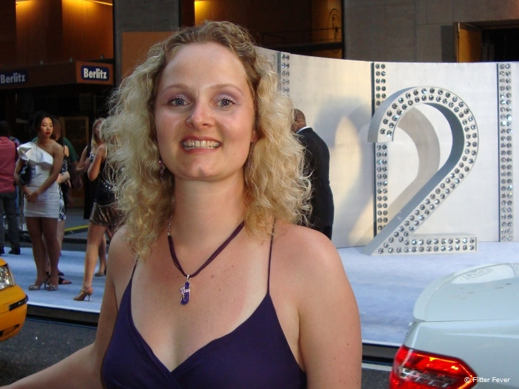 Woman at the premiere of Sex and the City 2 movie