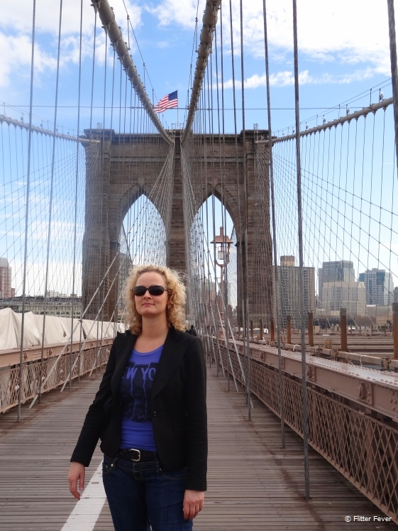 Checking out the Brooklyn Bridge