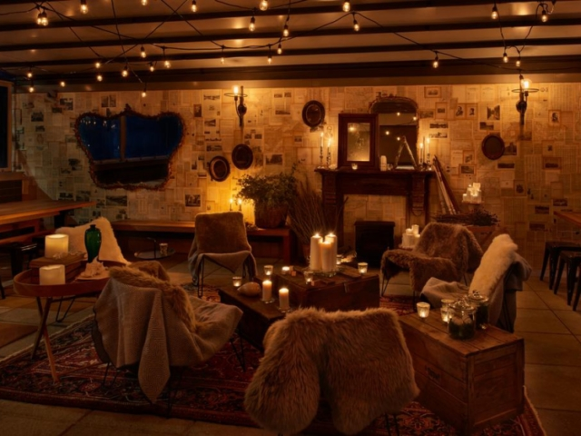 Cozy bar at Arlo NoMad NYC