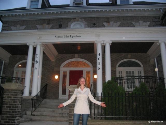 Fraternity house in the center of Philadelphia