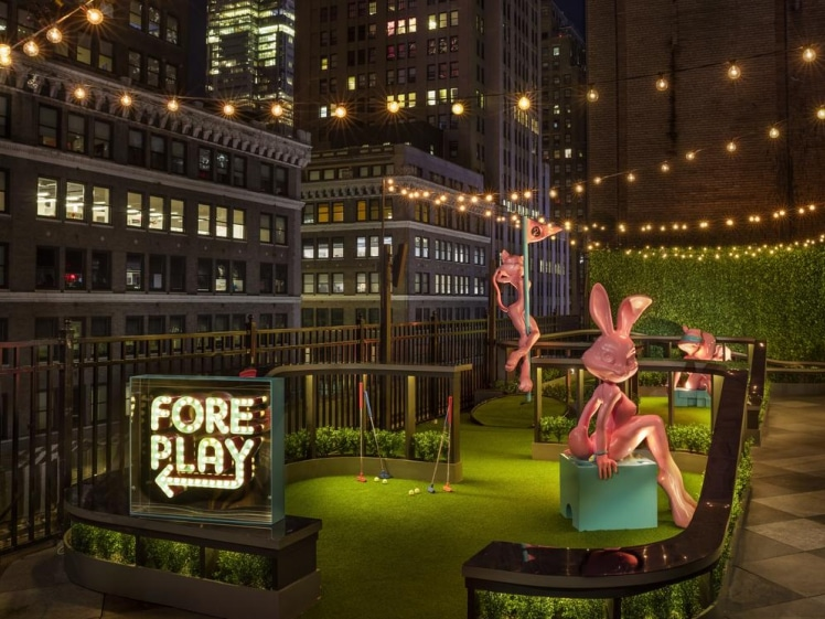 Fore play at MOXY NYC