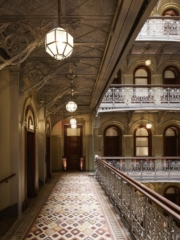 Hall way of The Beekman, a Thompson Hotel in Manhattan, NYC