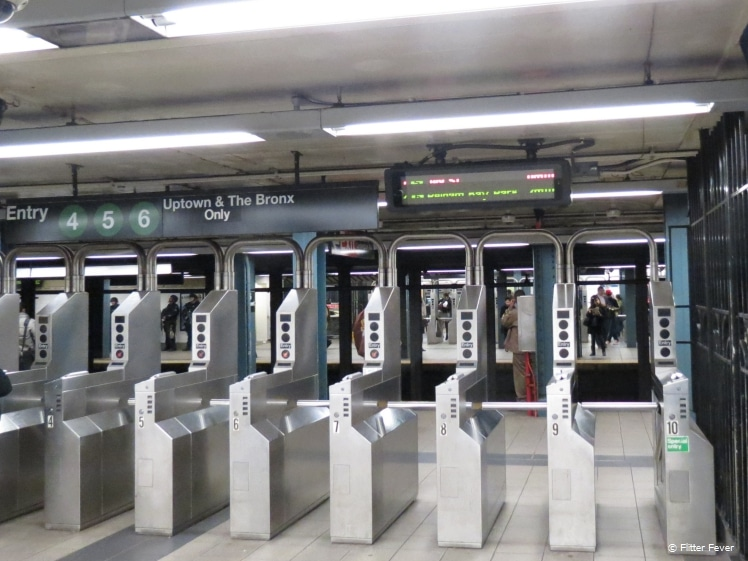 Metro entrance gates
