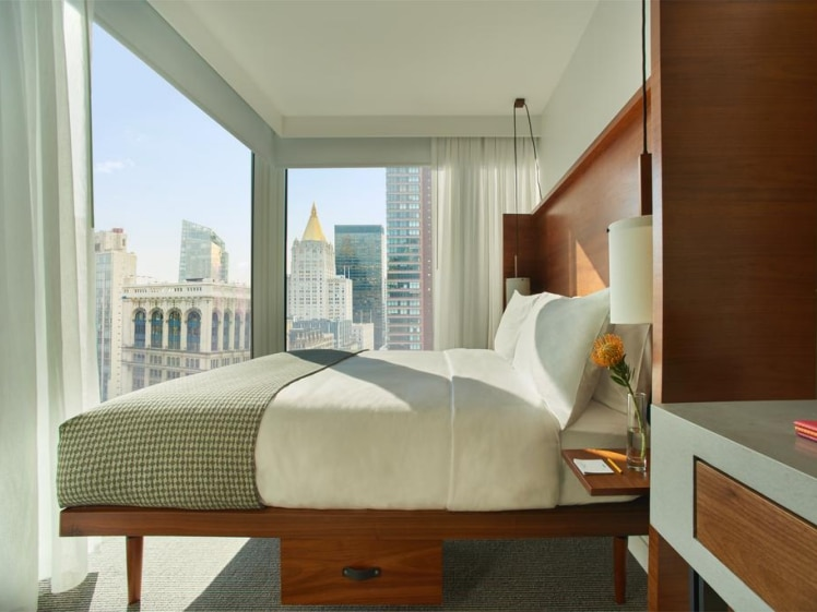 Room with a view at Arlo Momad in New York City