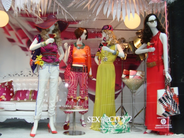 Sex and the City themed shop window