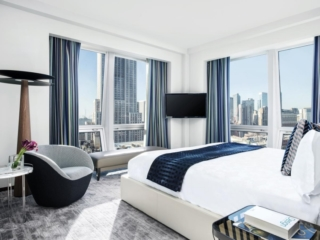 The Langham Fifth Avenue bed room with a view