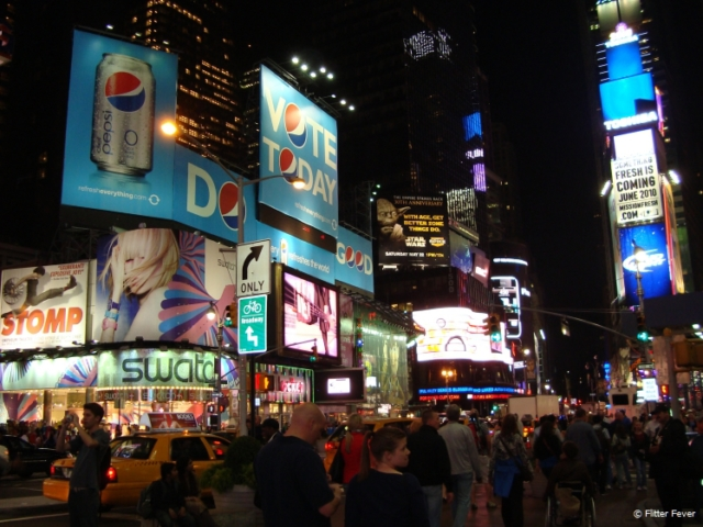 Times Square on a pleasant May evening