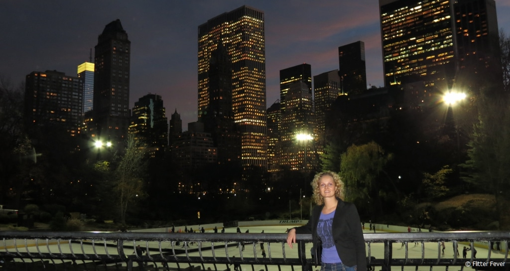 Wollman Rink in Central Park in the evening
